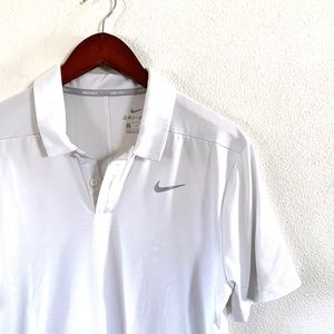 Nike Men's White Dry Fit Golf Polo